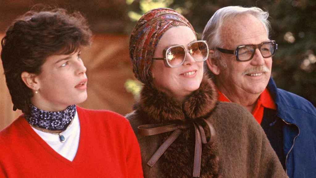 El príncipe Rainiero y la princesa Grace con Estefanía de Mónaco.