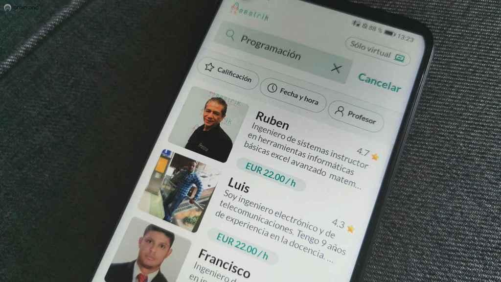 App de Maestrik en Android.