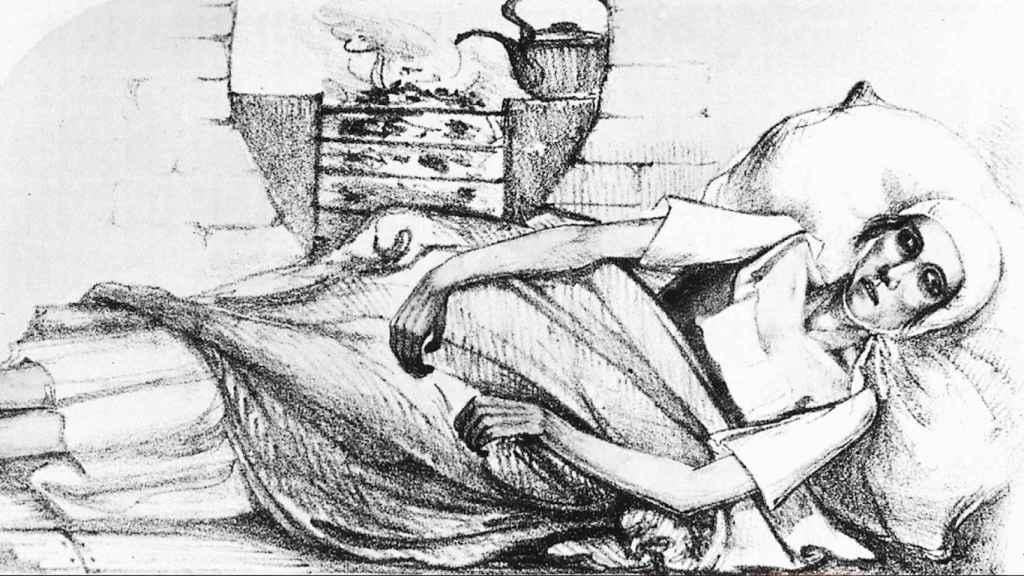 'Fase azul del cólera espasmódico'.