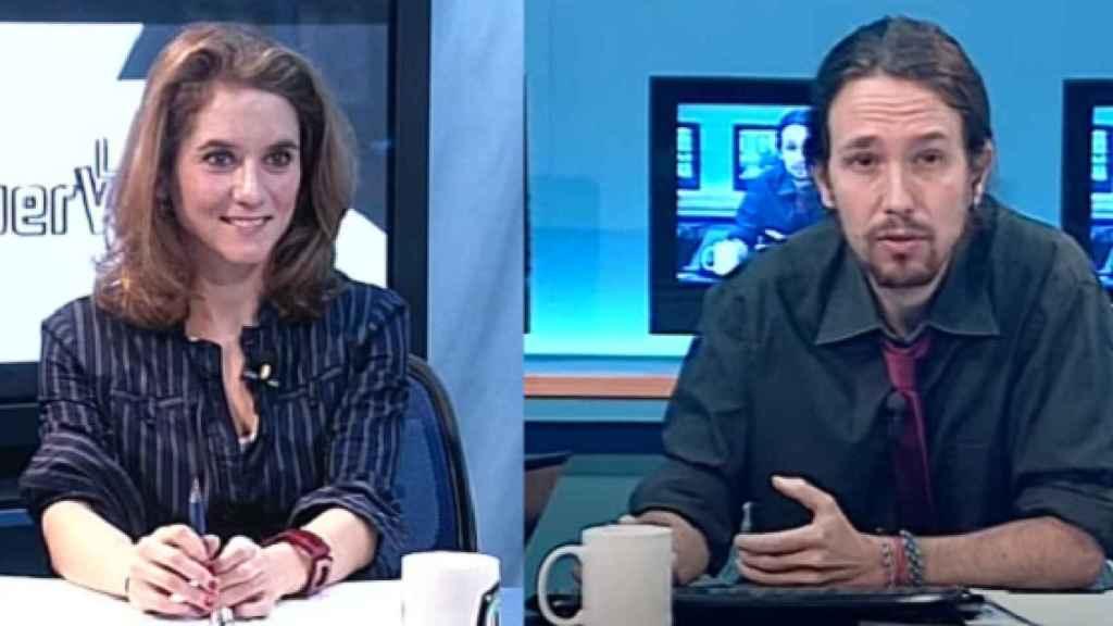 Isabel Díaz Ayuso y Pablo Iglesias en 'La Tuerka'