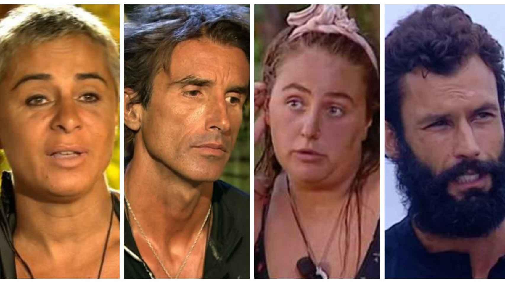 Los cuatro finalistas de 'Supervivientes' en montaje de JALEOS.