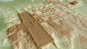 Imagen 3D del sitio de Aguada Fénix.