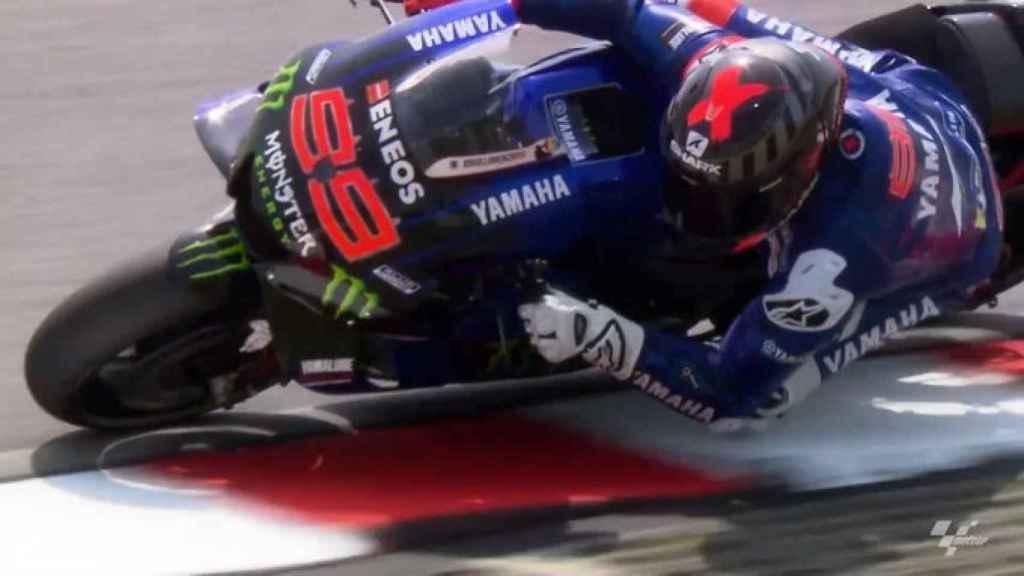 Jorge Lorenzo con la Yamaha