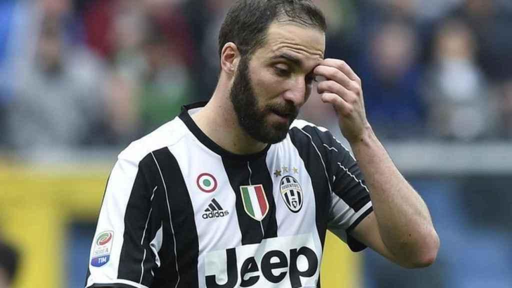 'El Pipita' Higuaín, en un partido de la Juventus de Turín