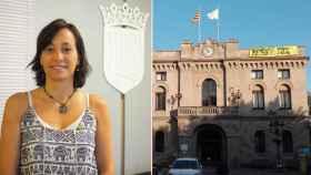 Fotomontaje de la alcaldesa de Vilassar de Dalt, Carola Llauró, y la fachada del consistorio.