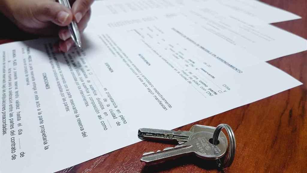 Firma de una hipoteca./