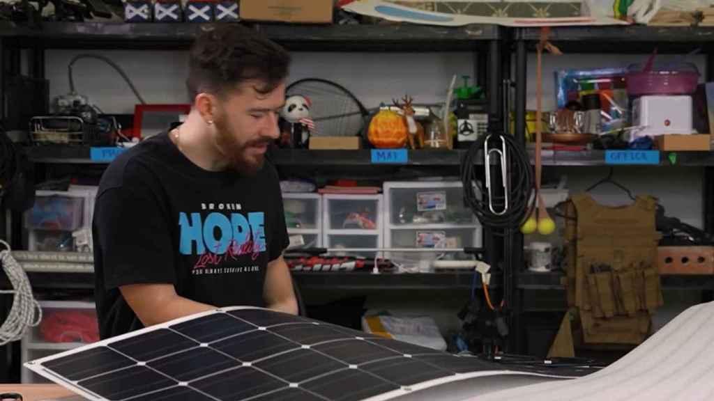Los paneles solares escogidos fueron de bajo coste