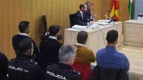 Antonio Manuel Guerrero, Jesús Escudero, José Ángel Prenda y Alfonso Jesús Cabezuelo, en el juicio celebrado por en el Juzgado de lo Penal 1 de Córdoba en noviembre de 2019.