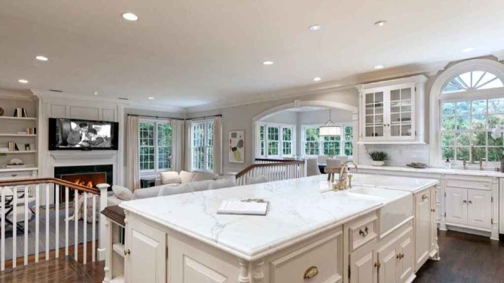 La cocina es una de las estancias más espectaculares de la casa.
