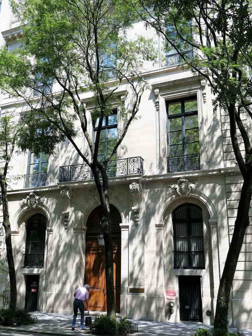 La mansión de Jeffrey Epstein en Nueva York.