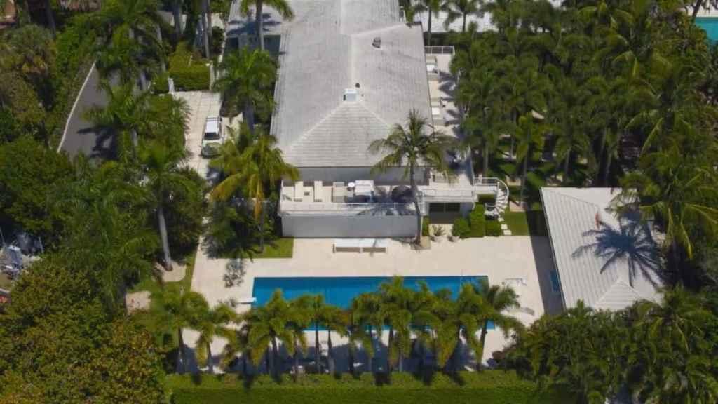 La mansión de Palm Beach de Jeffrey Epstein.