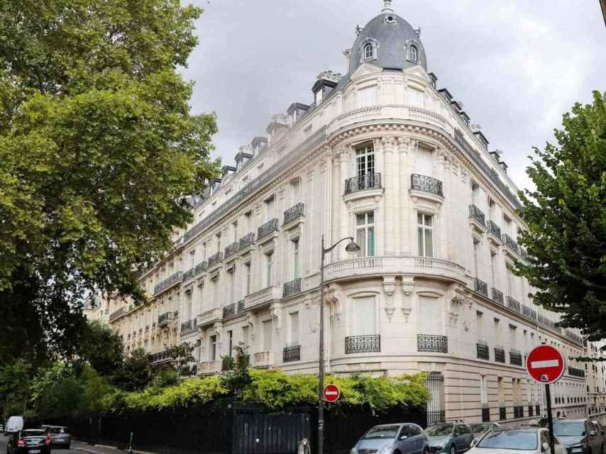 Edificio donde Epstein tenía su apartamento de París.