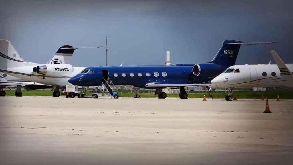 Los aviones de Jeffrey Epstein.