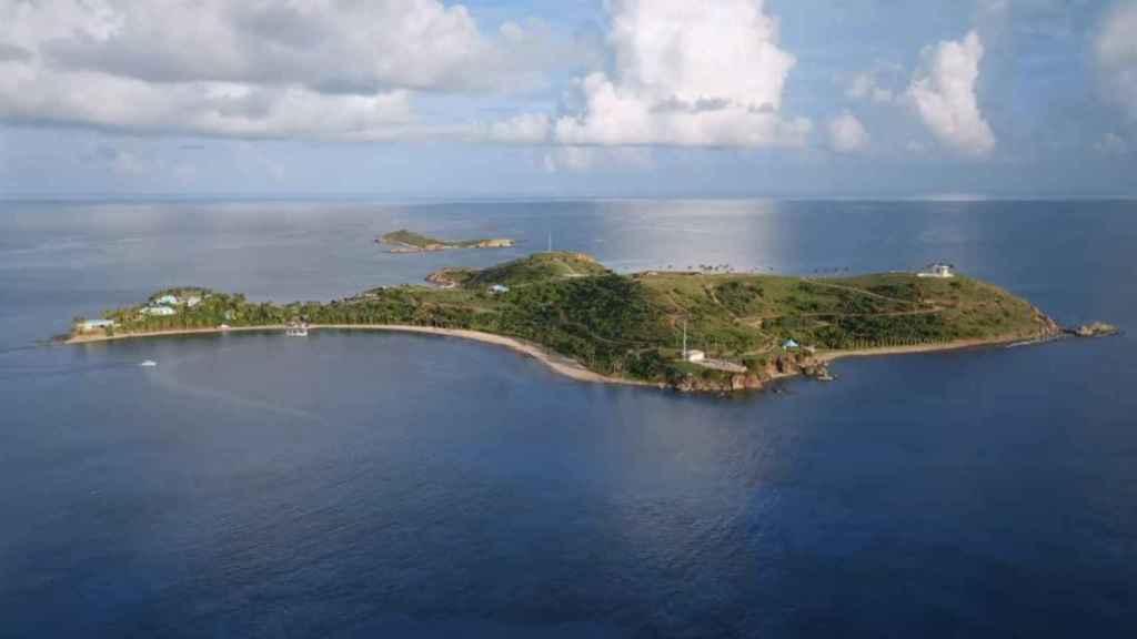 Una de las islas privadas de Jeffrey Epstein.