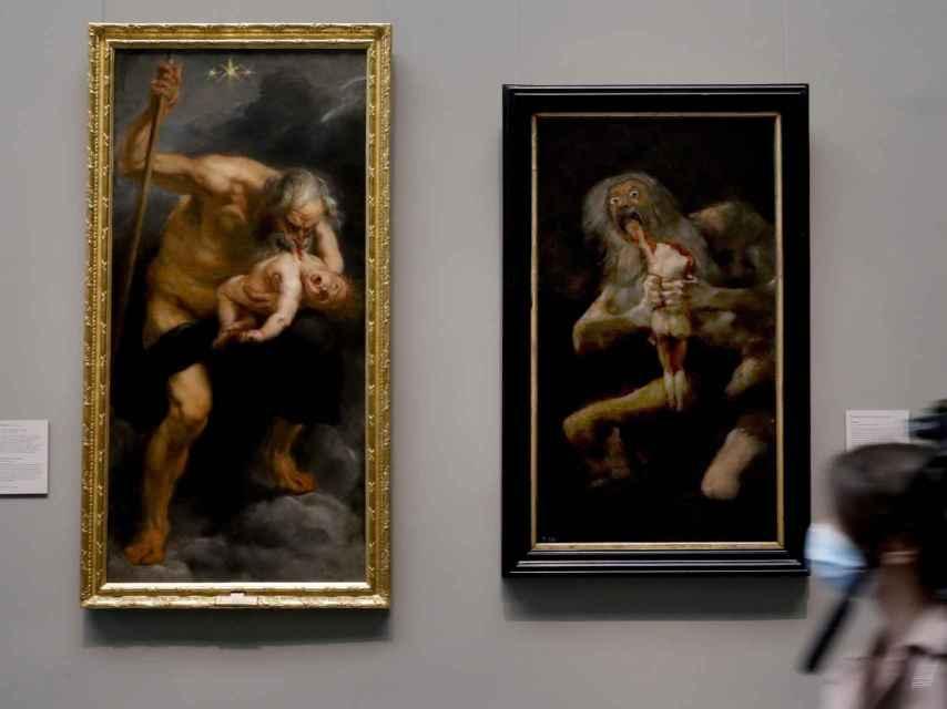 Las obras 'Saturno devorando a su hijo' de Rubens y Goya, expuestas juntas por primera.