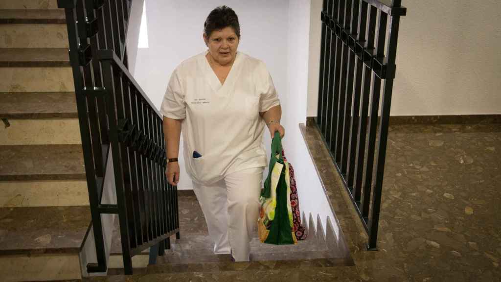 Nélida Giménez trabaja en ayuda a domicilio desde 2004.