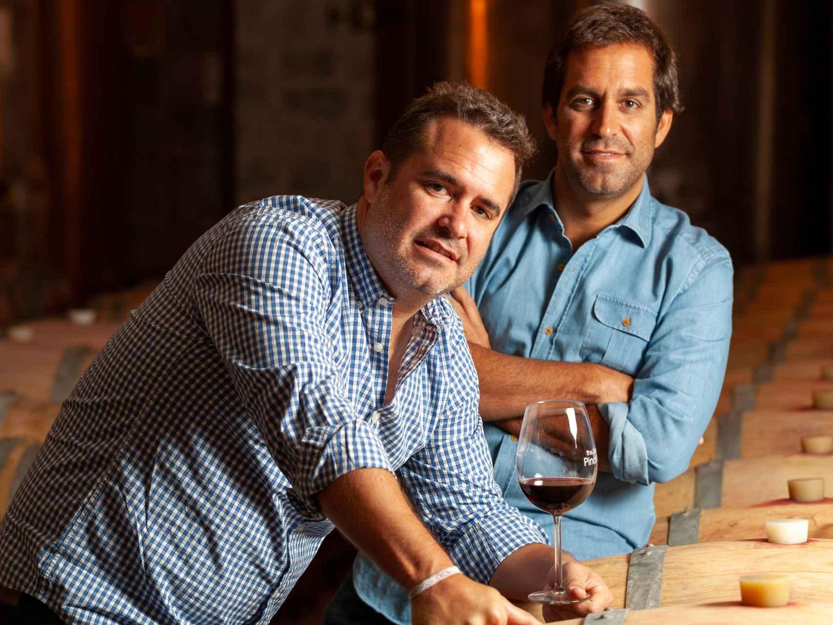 Diego y Hugo Ortega, propietarios de la bodega Alta Pavina.