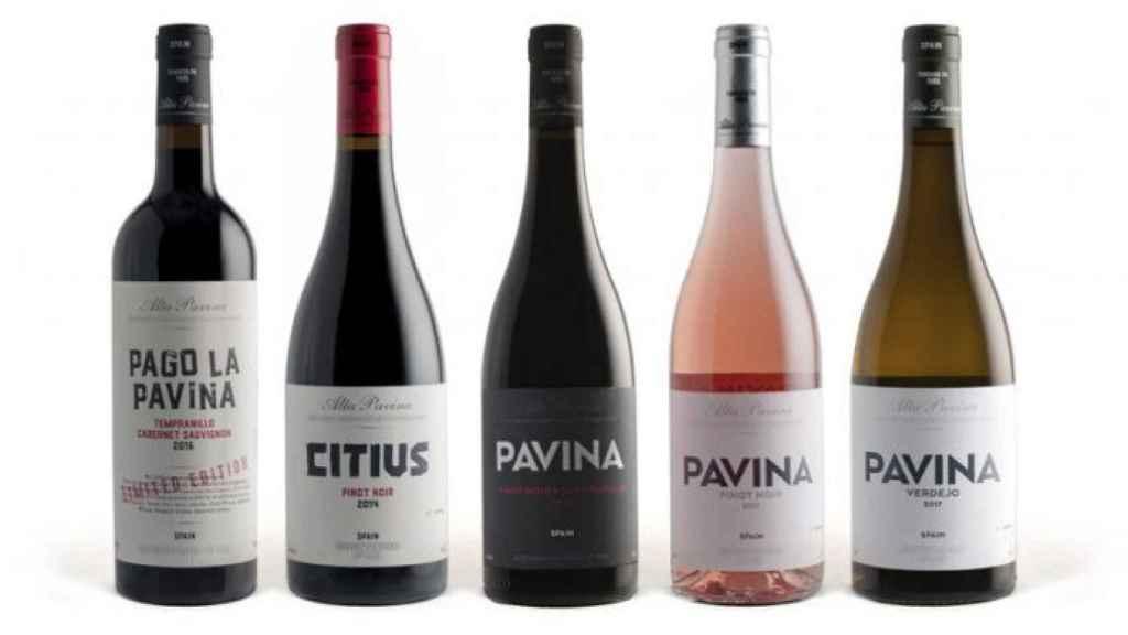 Toda la gama de vinos de Alta Pavina.