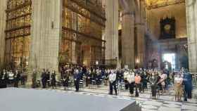 Imagen del funeral celebrado en la Catedral de Sevilla en memoria de las víctimas de Covid