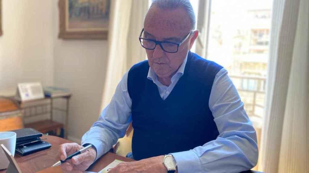 Joan Gaspart, en su despacho, el día de la entrevista.