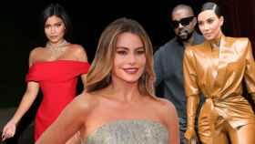 Kylie Jenner, Sofía Vergara y Kanye West junto a su mujer, Kim Kardashian.