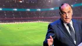 Público trasladado a un estadio vacío y Javier Tebas