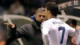 Mourinho y Cristiano Ronaldo, en el Real Madrid en 2013