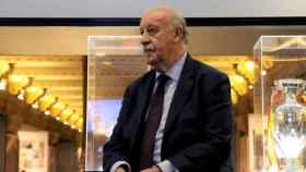 Vicente del Bosque en el Espacio Selección del edificio Telefónica. Foto: Europa Press