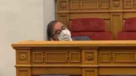El socialista Fernando Mora, este jueves en las Cortes de Castilla-La Mancha