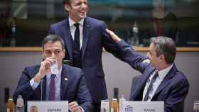 Pedro Sánchez y Emmanuel Macron, durante una cumbre de la UE