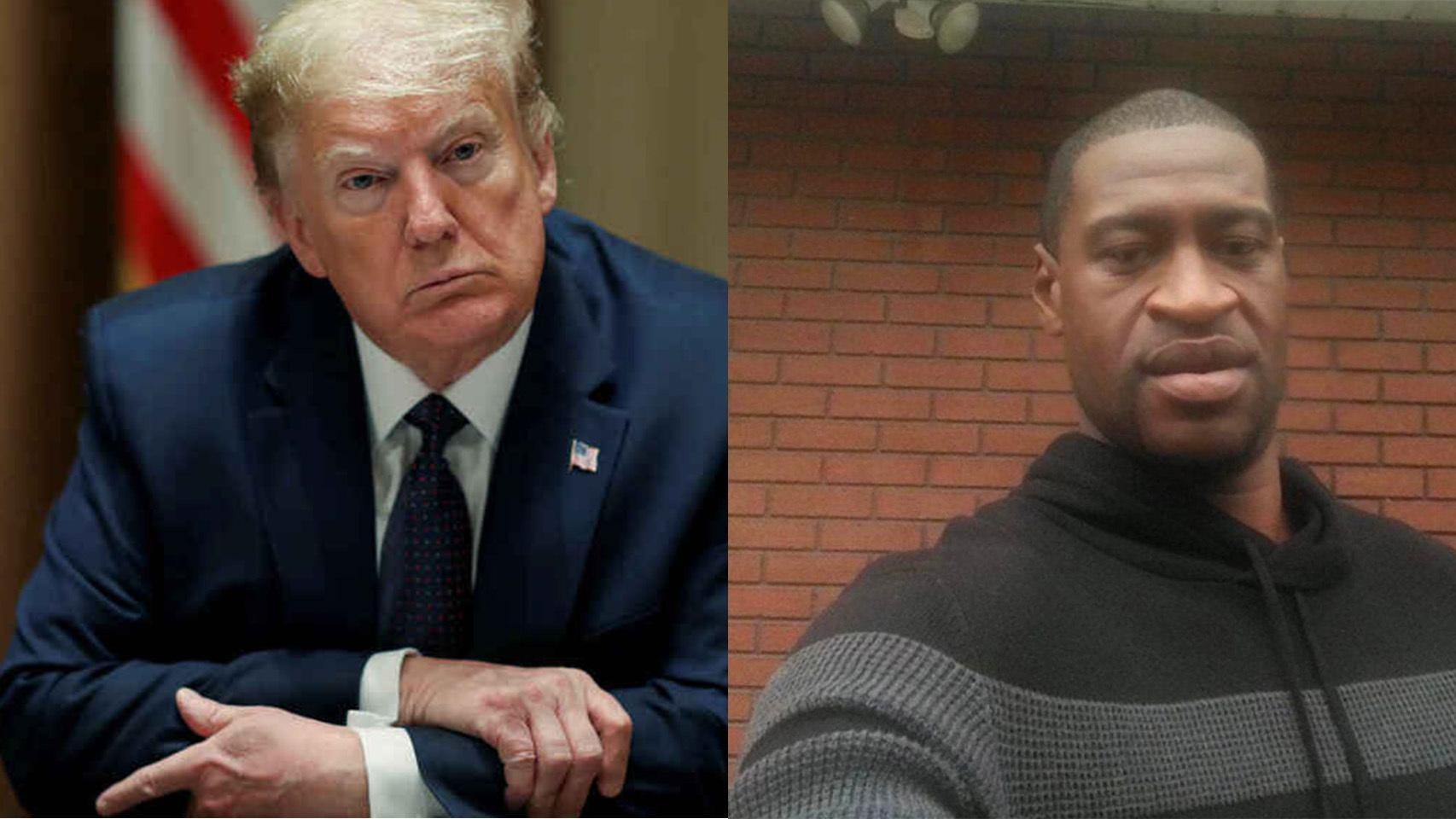 Donald Trump y George Floyd