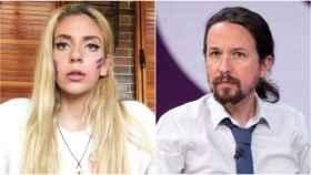 Valeria Quer y el vicepresidente Pablo Iglesias.
