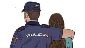 Detalle del criticado cartel de la Junta de Andalucía