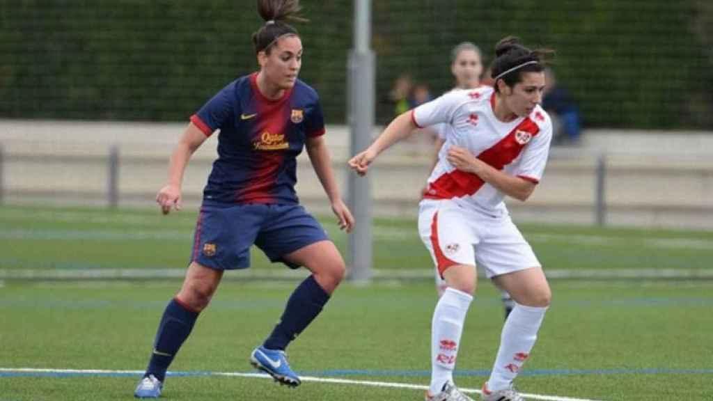 Laura Gutiérrez, durante un partido con el Barcelona