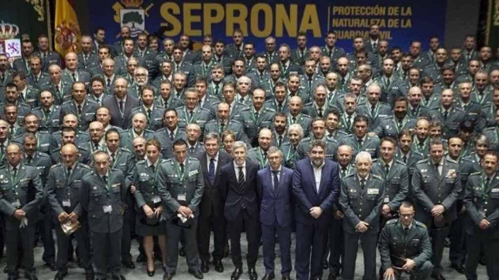 El Seprona, en el acto de su 30 aniversario.