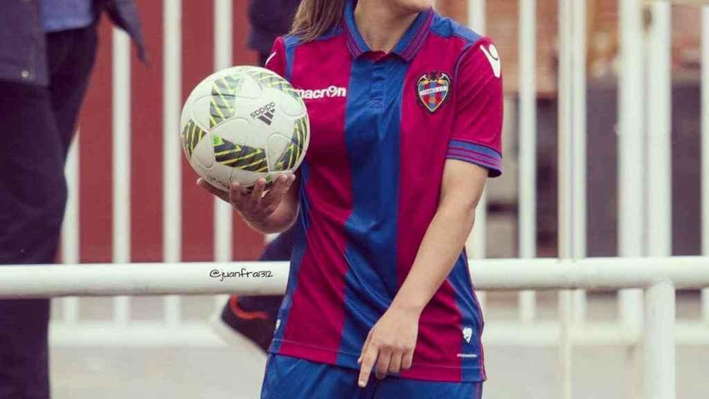 Laura Gutiérrez, durante un partido con el Levante