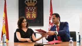 La presidenta de Madrid, Isabel Díaz Ayuso, y su vicepresidente, Ignacio Aguado, en una imagen de archivo.