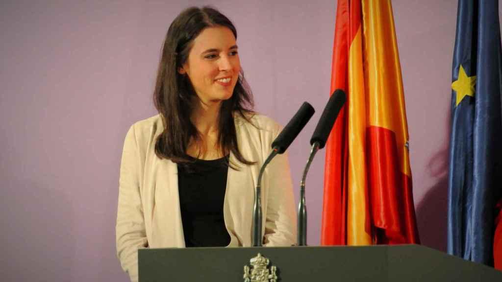 Irene Montero, el día de su toma de posesión como ministra de Igualdad.
