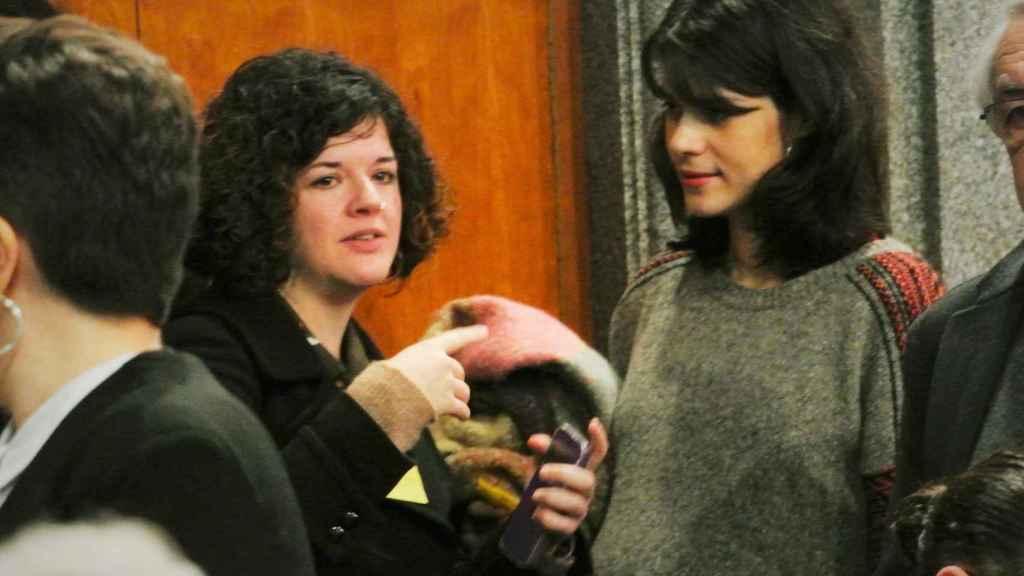 Sofía Castañón e Isa Serra, en la toma de posesión de los cargos del Ministerio de Igualdad.