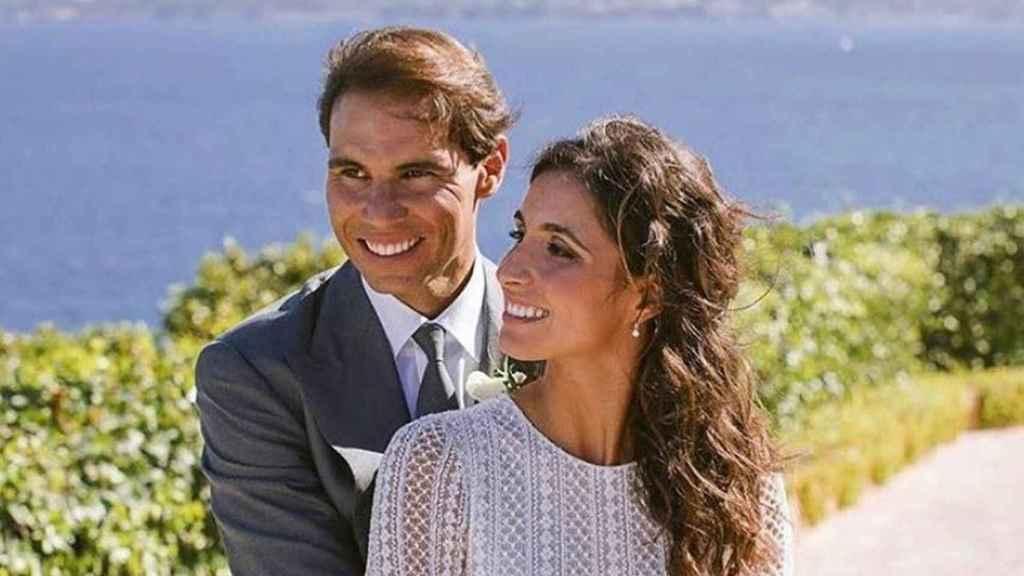 Rafa Nadal y Xisca Perelló el día de su boda en octubre de 2019.
