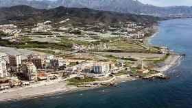 Vista de la zona costera de Torrox, en la Costa del Sol oriental de Málaga.