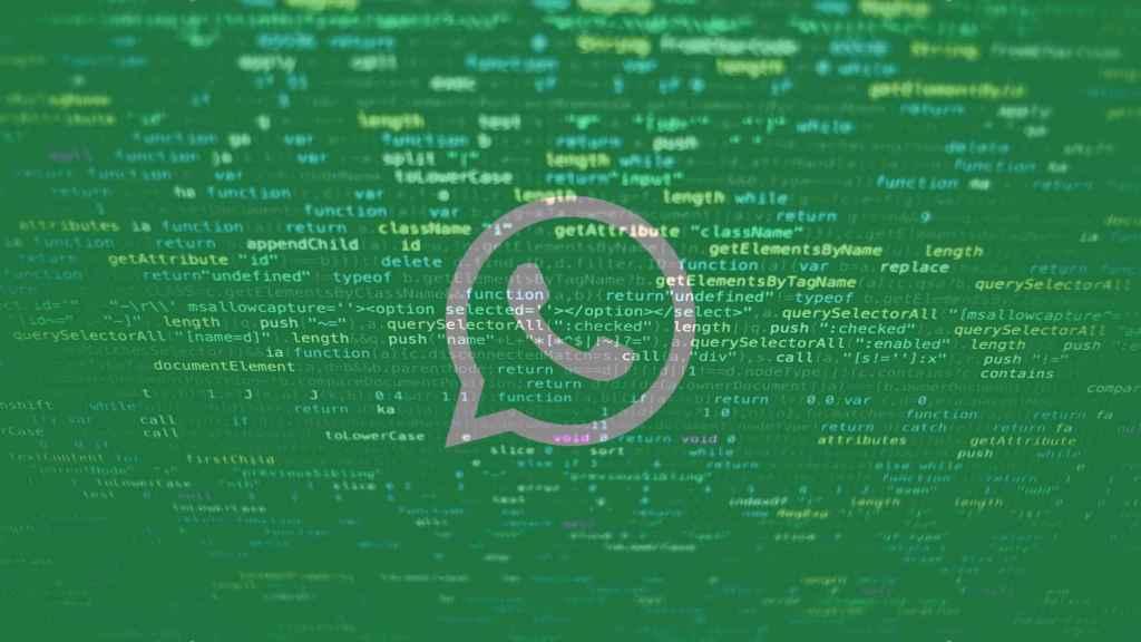 Montaje con datos y el logo de WhatsApp.