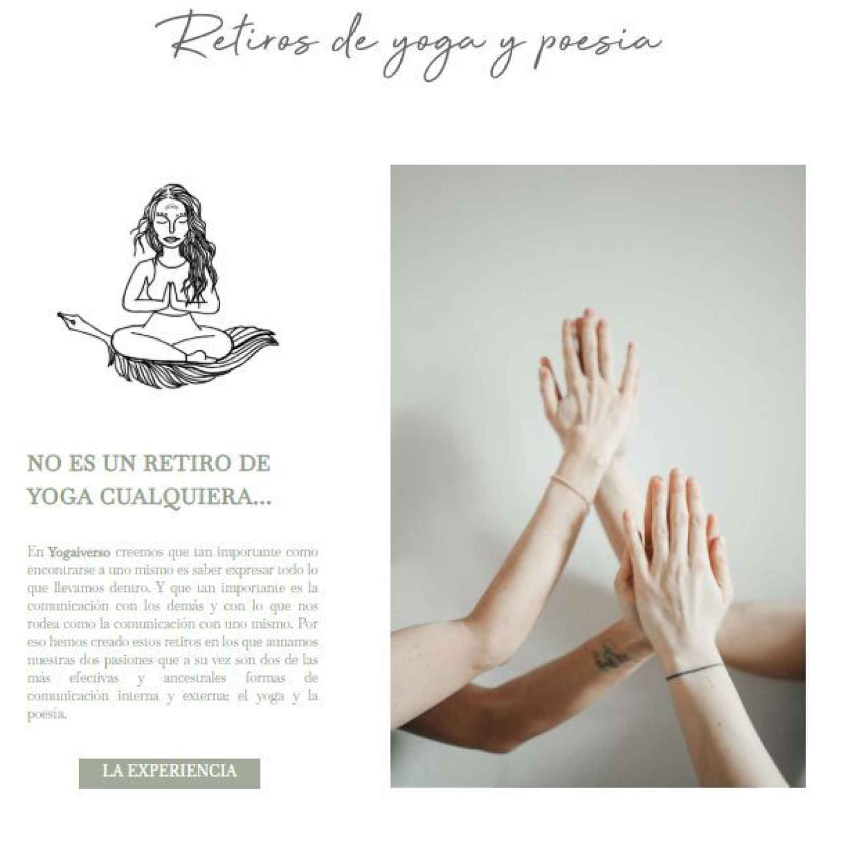 Retiros de yoga y poesía, el nuevo proyecto de Agripina.