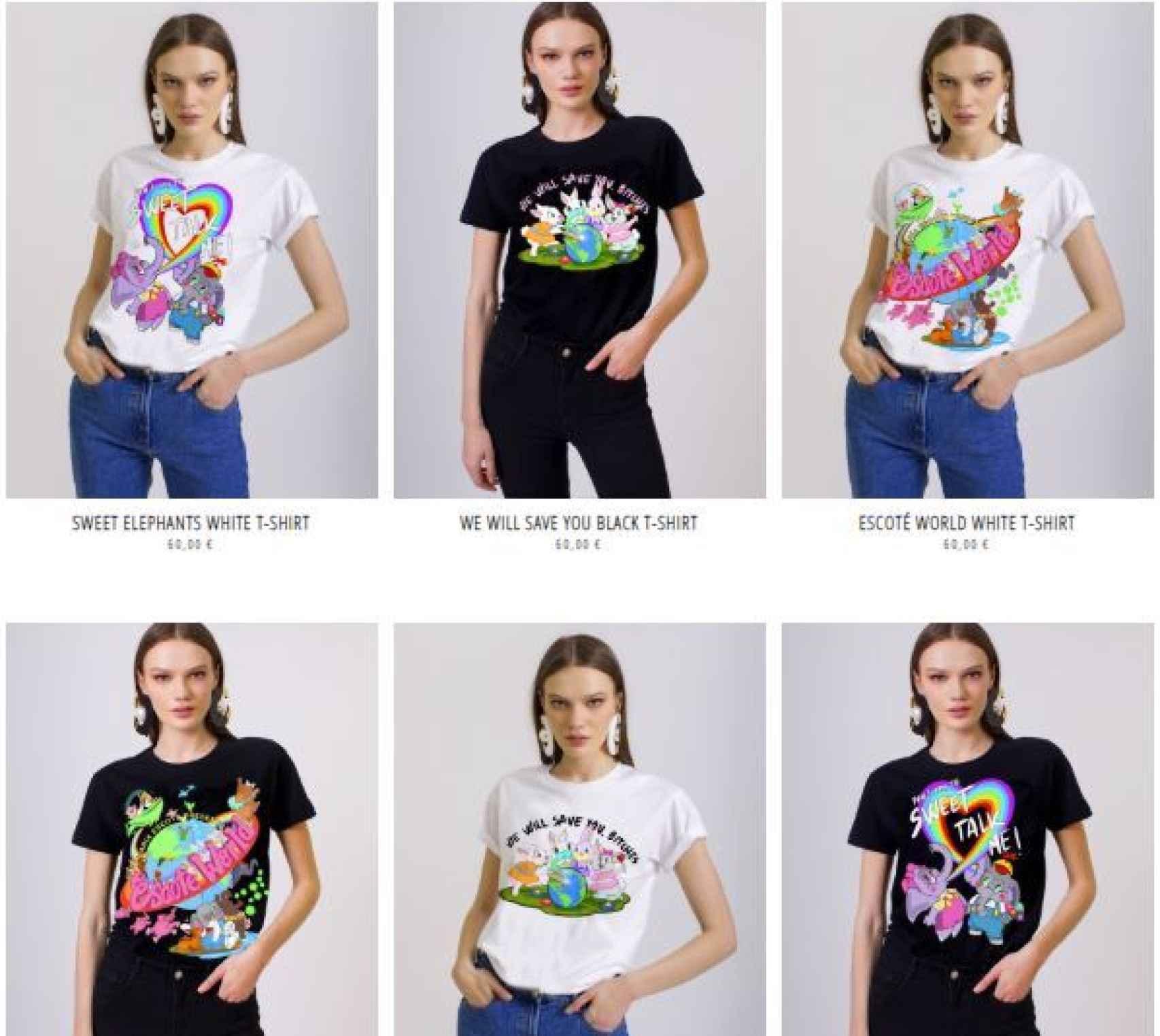 Las prendas disponibles de la colección en la web de María Escoté.