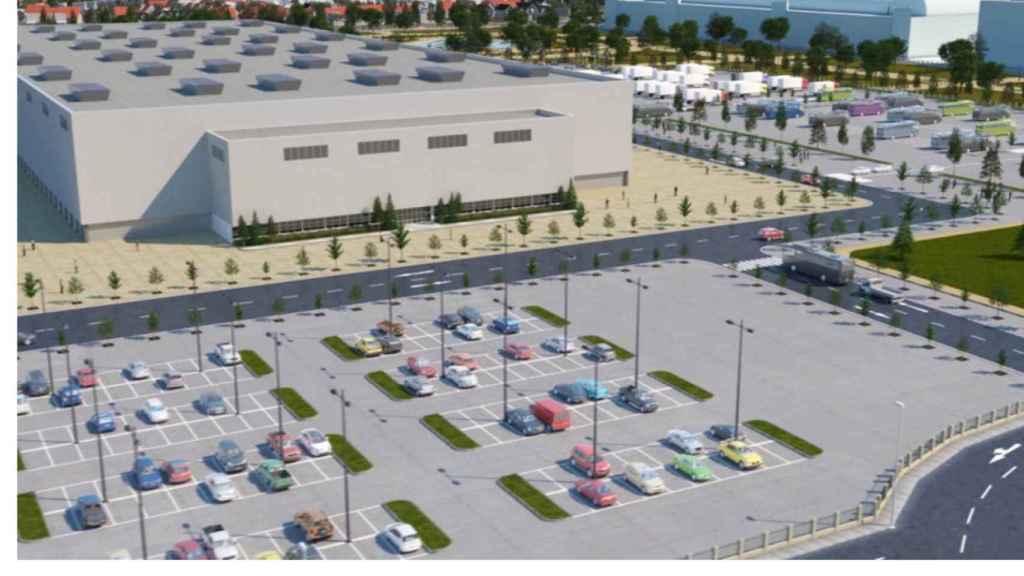 Una de las áreas de aparcamiento del futuro Espacio Ifema Valdebebas.