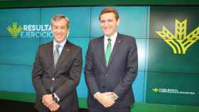 Javier López y Vícor Manuel Martín, presidente y directeor general, respectivamente, de Eurocaja Rural