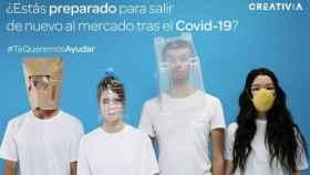Imagen de la campaña solidaria que ha lanzado Creativia para ayudar a las empresas necesitadas