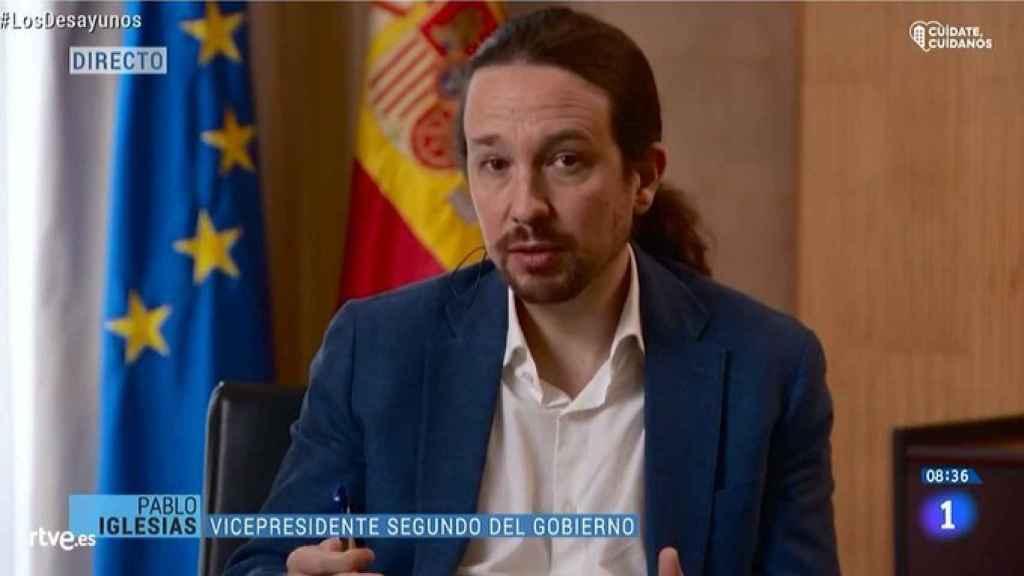 Pablo Iglesias, vicepresidente segundo del Gobierno, en 'Los Desayunos de TVE'.