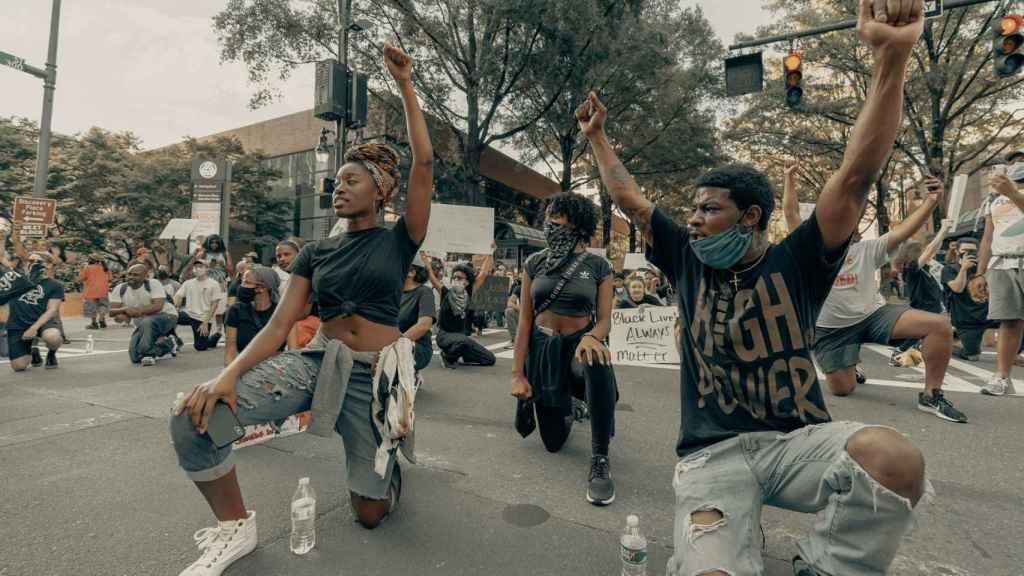 Imagen de los manifestantes tras la muerte de George Floyd esta semana en EEUU