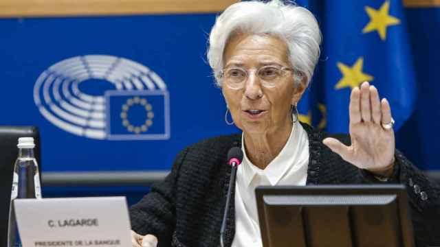 Christine Lagarde, durante una comparecencia en la Eurocámara.